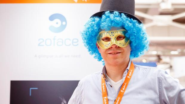 CEO Peter Hoekstra demonstrates 'recognition while disguised' at Hannover Messe 2018